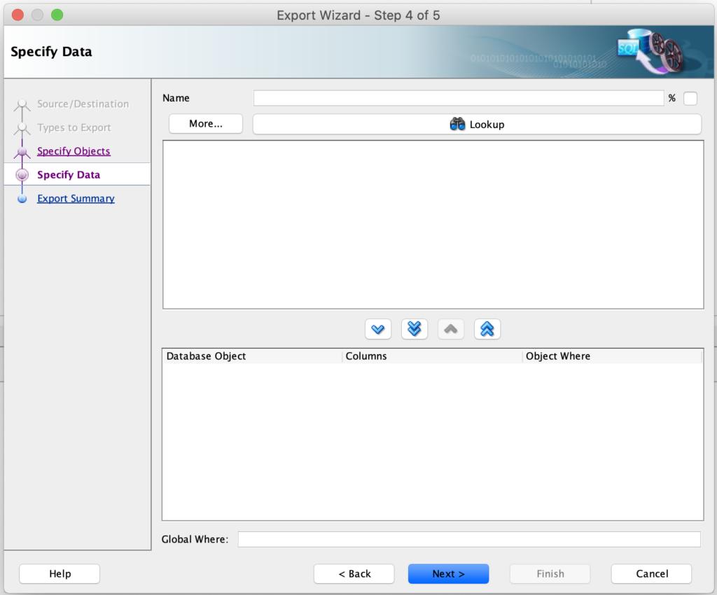 Step-4: Specify data filter in SQL Developer.