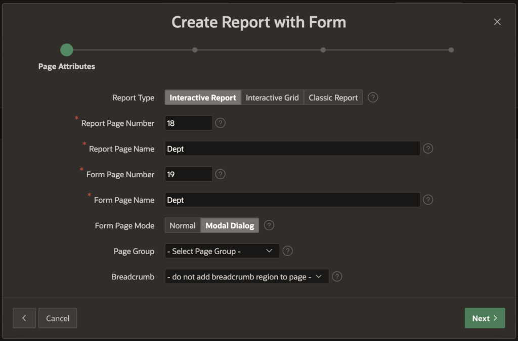 Create regions.